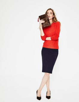 Red Pop Cashmere Crew Sweater