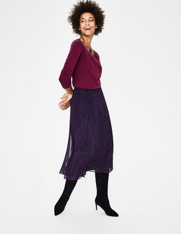 Mulled Wine Cashmere Crew Sweater