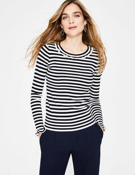 Navy/Ivory Stripe Bernadette Jumper