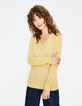 Buttercup Cashmere Relaxed V-neck Jumper