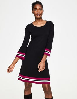 Black Trudy Knitted Dress