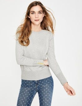 Silver Melange Tilda Crew Neck Sweater