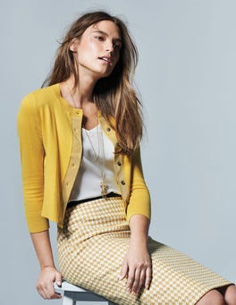 Cropped Cardigan At Boden