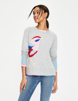 Intarsia Bird Romy Sweater