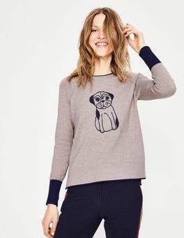 Pug Embroidery  Romy Jumper