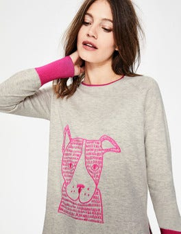Novelty Dog Embroidery Romy Jumper