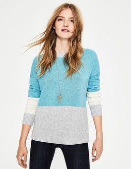 Heritage Blue/Silver Melange Lowick Sweater