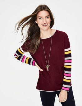 Mulled Wine/Stripe Berwick Jumper