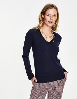 Navy Tilda V Neck Sweater