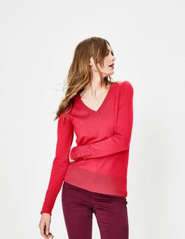 Pop Peony Tilda V Neck Sweater