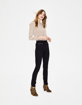 Black Brighton Biker Jeans