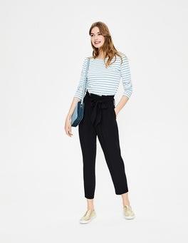 Black Melina Paperbag Trousers