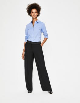 Black Marlin Wide Leg Pants