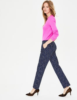 Navy and Milkshake Spot Richmond Trousers
