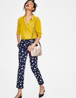 Navy Blossom Richmond 7/8 Trousers