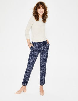 Navy and Milkshake Spot Richmond 7/8 Trousers