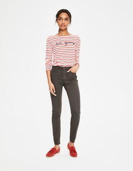 Pewter Sateen Mayfair Skinny Jeans