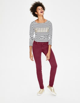 Mulled Wine Sateen Mayfair Skinny Jeans