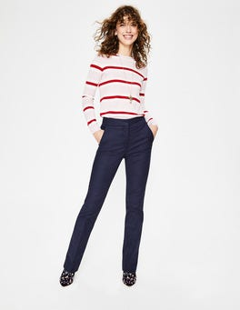 Navy Richmond Bootcut Trousers