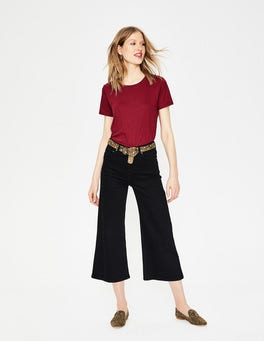 Black York Cropped Jeans