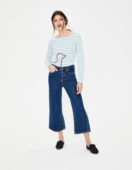 Mid Vintage Denim (Mid Wash) York Cropped Jeans