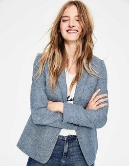Blue Ribbon Herringbone Bath British Tweed Blazer
