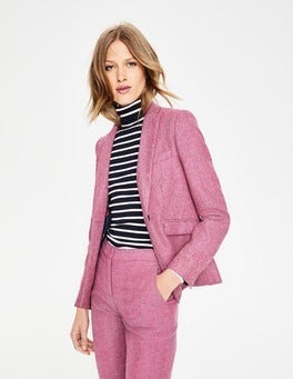Pink Herringbone Bath British Tweed Blazer