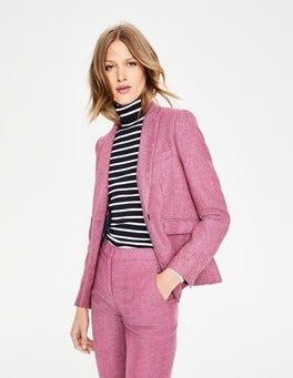 Pink Herringbone Bath British Tweed Blazer