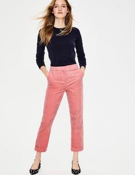 Rose blush Pantalon droit en velours côtelé