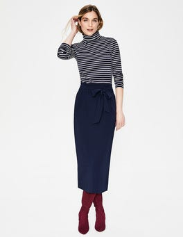 Navy Melina Paperbag Skirt