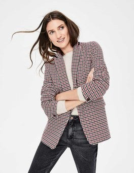 Red, Navy & Ivory Check Bramley Blazer