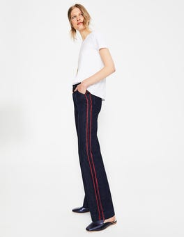Indigo with Piping Windsor Wide Leg Jeans