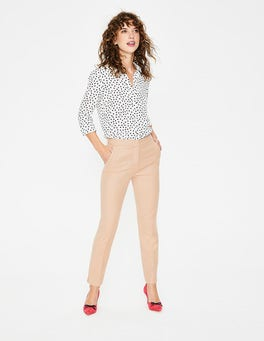 Fawn Rose and Soft Truffle  British Tweed 7/8 Trousers
