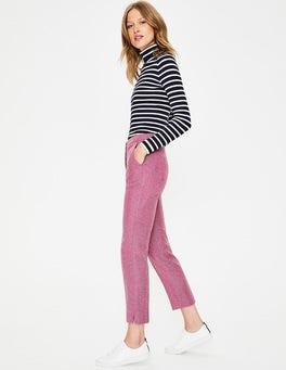 Amaranth/Grey Herringbone British Tweed 7/8 Pants
