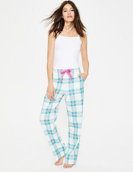 Green and Pop Pansy Check Suzie PJ Trousers