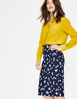 Navy, Blossom Richmond Pencil Skirt