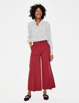 Weinrot Hampshire Culottes aus Ponte-Roma-Jersey