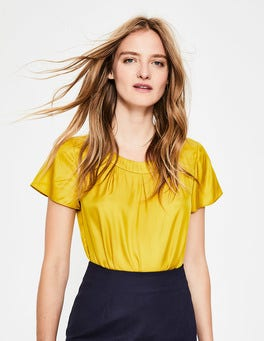 Hot Mustard Carey Top