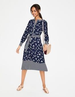 Navy Blossom Eva Dress