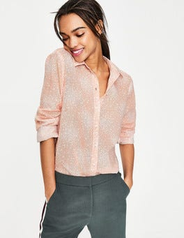 Milkshake, Flower Burst Easy Linen Blend Shirt
