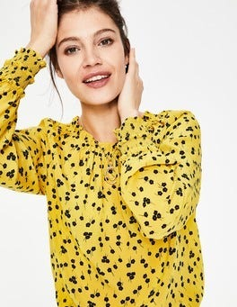 English Mustard, Blossom Small Sadie Silk Top