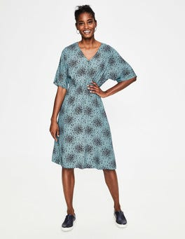 Heritage Blue Flower Burst Truro Dress