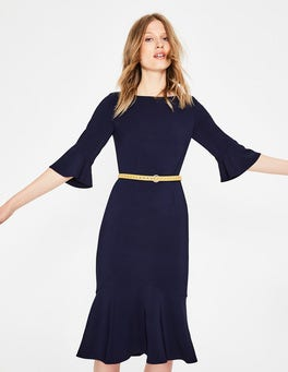 Navy Flippy Pencil Dress
