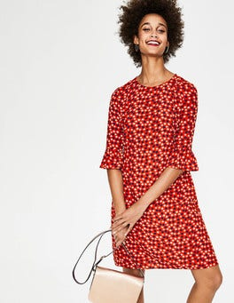 Post Box Red Scattered Stars Hyacinth Dress
