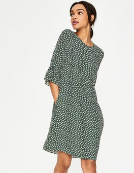 Pine Tree Scattered Stars Hyacinth Dress