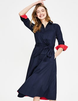 Navy Roseland Shirt Dress