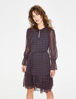 Navy and Conker Geo Libby Dress