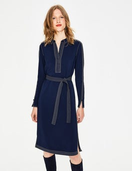 French Navy Scarlett Shirt Dress