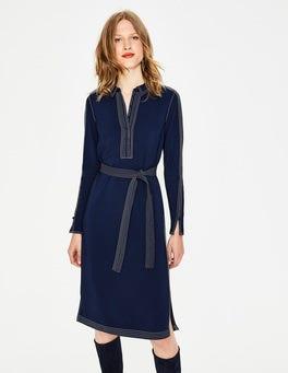 French Navy Scarlett Shirt Dress