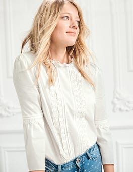 Lace Pintuck top